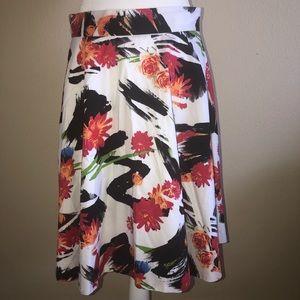 Amanda + Chelsea White Floral Skirt